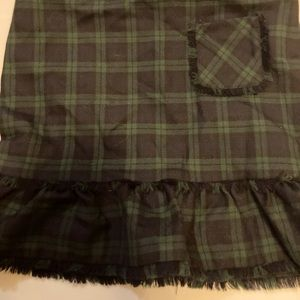 Brooks brother girls black watch plaid wool skirt
